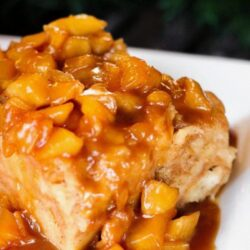Bread Pudding with Caramel Apple Sauce Recipe