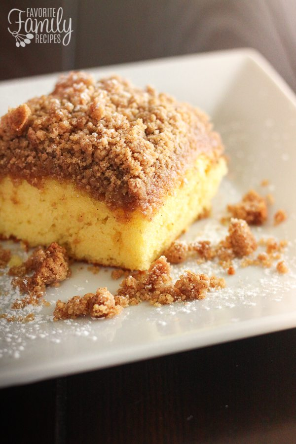 If you like coffee cake, you are going to LOVE this Cake Mix Coffee Cake! I am a big fan of coffee cake and I am even a bigger fan of it when I can skip a couple steps to get it done quicker!
