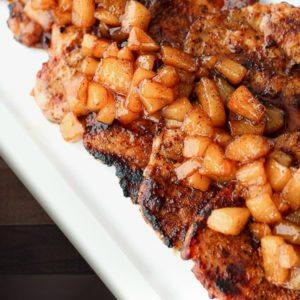 Cinnamon Pork Chops with Spiced Pears Recipe