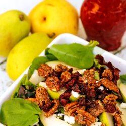 Harvest Pear Salad with Cranberry Vinaigrette Dressing