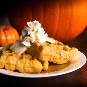 Pumpkin Belgian Waffles Recipe