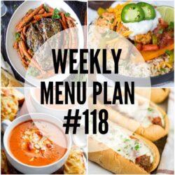 Weekly Menu Plan #118
