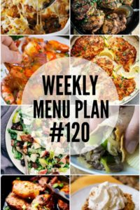 Weekly Menu Plan #120