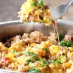 Cheesy Beefy Rice Skillet (A One Pot Meal)