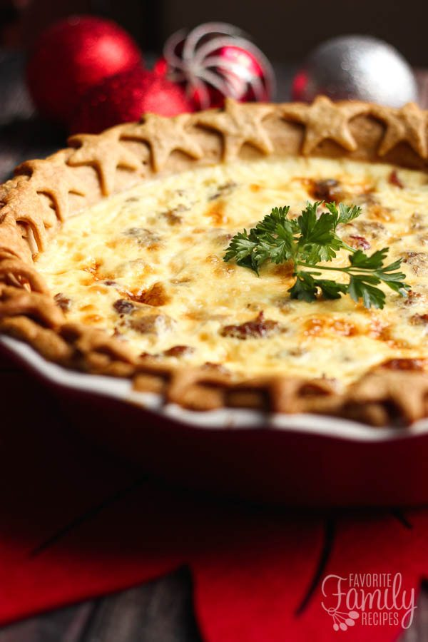 Christmas quiche with cranberries and sausage favorite family recipes christmas quiche forumfinder Gallery