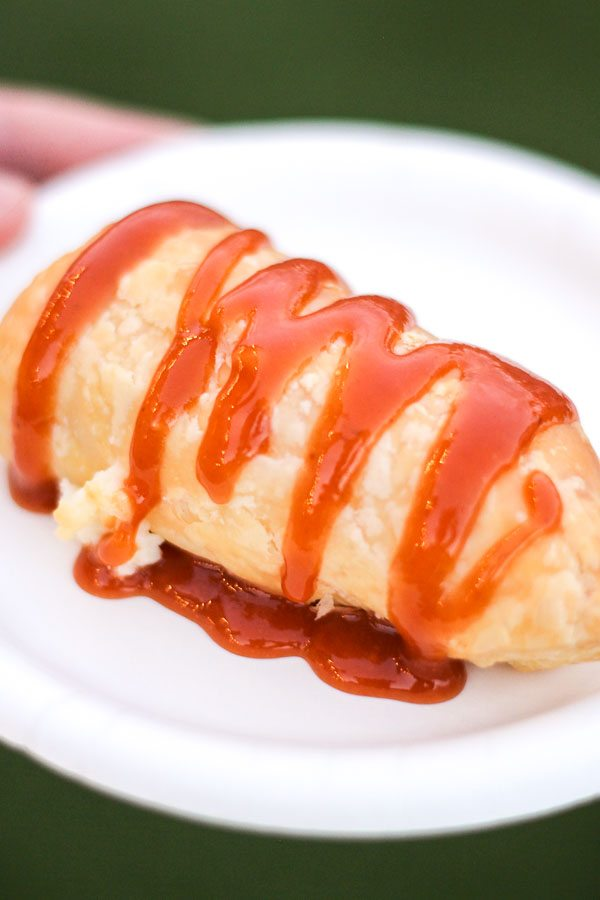 Quesito with sweetened cream cheese drizzled with caramel from the Islands of the Caribbean Global Marketplace at the Epcot Food and Wine Festival