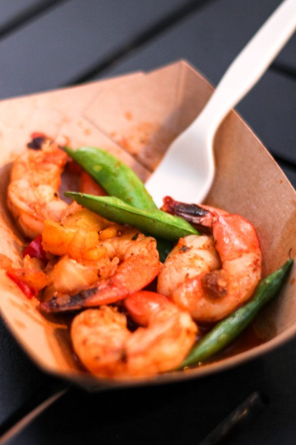 Grilled Sweet and Spicy Bush Berry Shrimp from the Australia Global Marketplace at the Epcot Food and Wine Festival