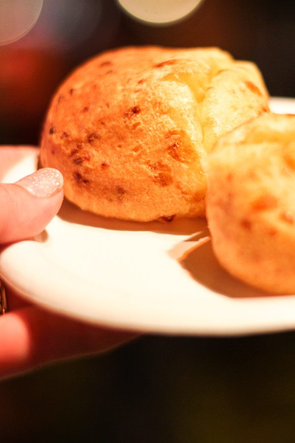Pao de Queijo (Brazilian Cheese Bread) from the Brazil Global Marketplace at the Epcot Food and Wine Festival