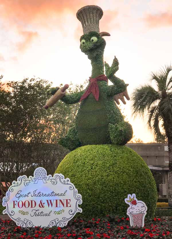 Topiary Display at the Epcot International Food and Wine Festival