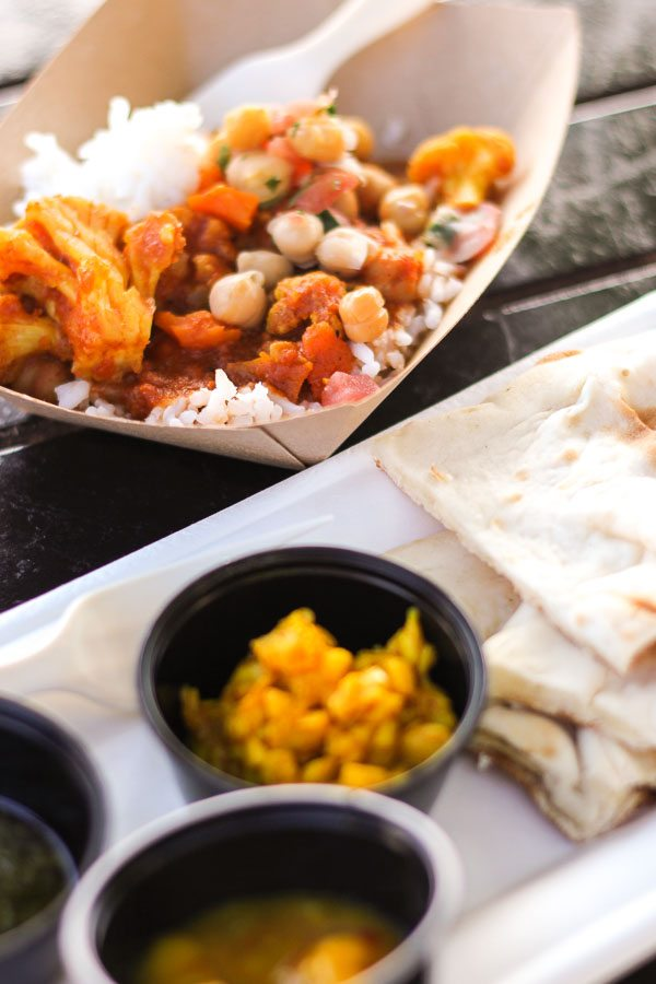 Warm Indian Bread with Madras Red Curry from the India Global Marketplace at the Epcot Food and Wine Festival