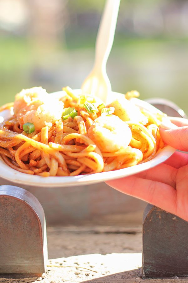 Black Pepper Shrimp with Garlic Noodles from the China Global Marketplace at the Epcot Food and Wine Festival