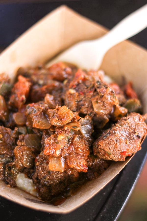 Berbere-style Beef Tenderloin Tips from the Africa Global Marketplace at the Epcot Food and Wine Festival
