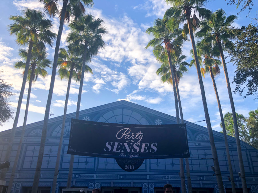 Party for the Senses Entrance at Walt Disney World Epcot Food and Wine Festival