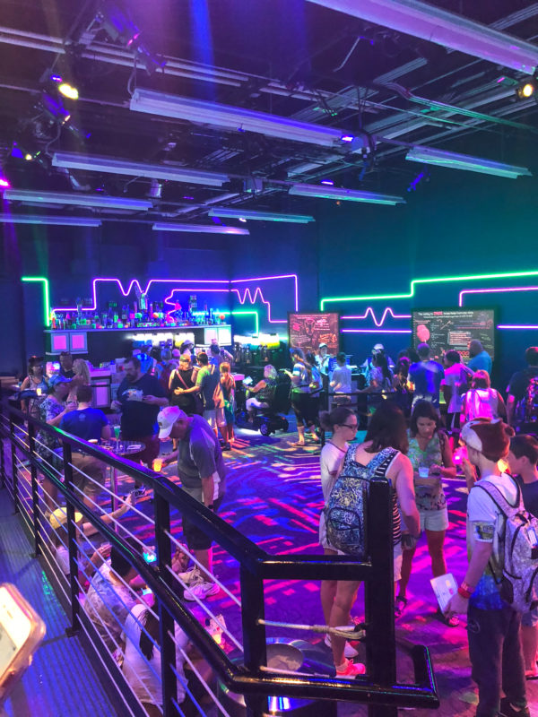 The Light Lab with neon lighting at the Epcot Food and Wine Festival