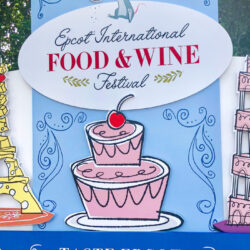 Epcot International Food and Wine Festival Sign