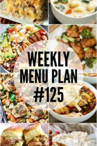 Weekly Menu Plan #125