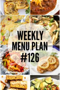 Weekly Menu Plan #126
