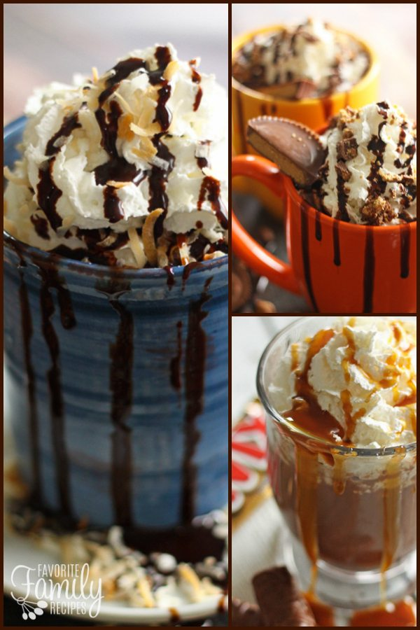 Candy Bar Hot Chocolate - Almond Joy Reeses and Twix