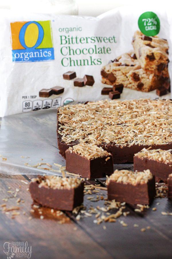 Creamy Chocolate Coconut Fudge with O Organics