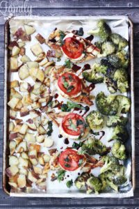 One Pan Chicken and Veggies Italian Style