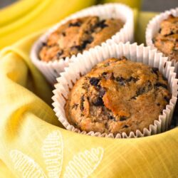 Chocolate Chip Monkey Muffins with Coconut Oil