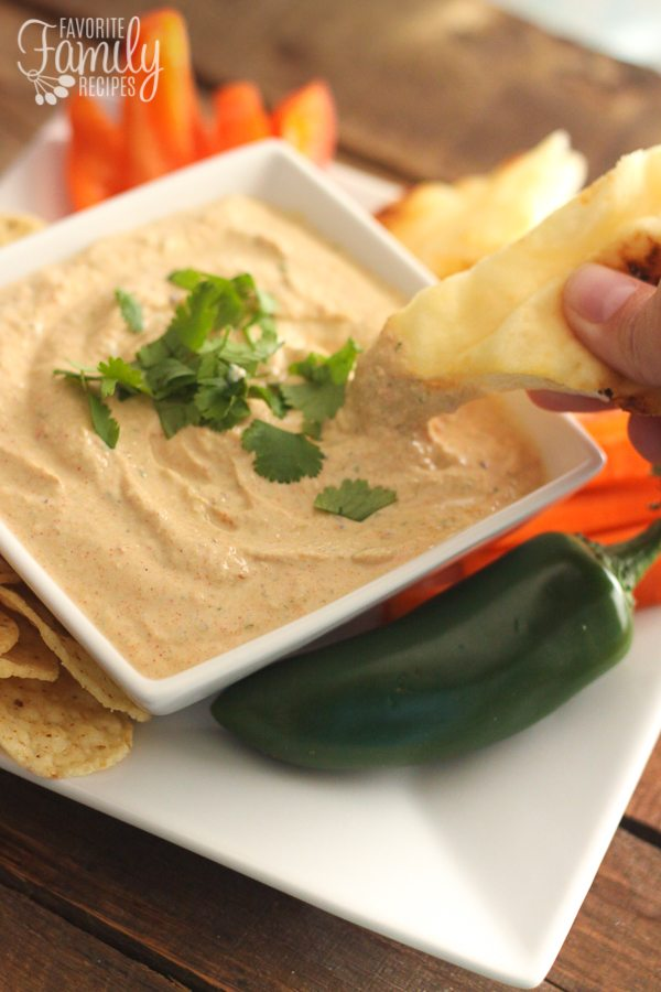 Skotidakis Jalapeno Greek Yogurt Dip is one of my favorite dips of all time. It's creamy and tangy with a little spice.  It's the perfect dip for chips and crackers and veggies and is light on calories too!