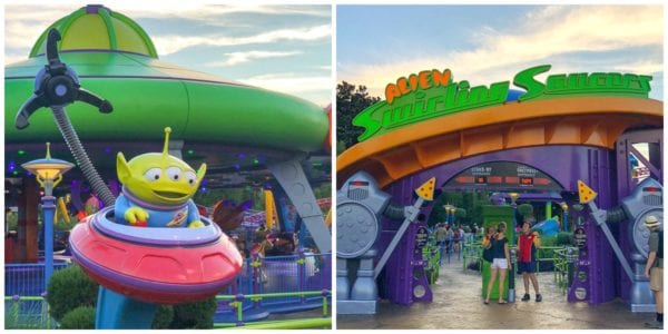 Entrance to the Alien Swirling Saucers ride in Toy Story Land at Disney's Hollywood Studios