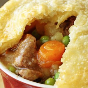Beef Pot Pie with Flaky Crust and Savory Filling