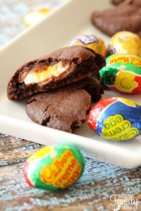 Cadbury Creme Egg Stuffed Easter Cookies