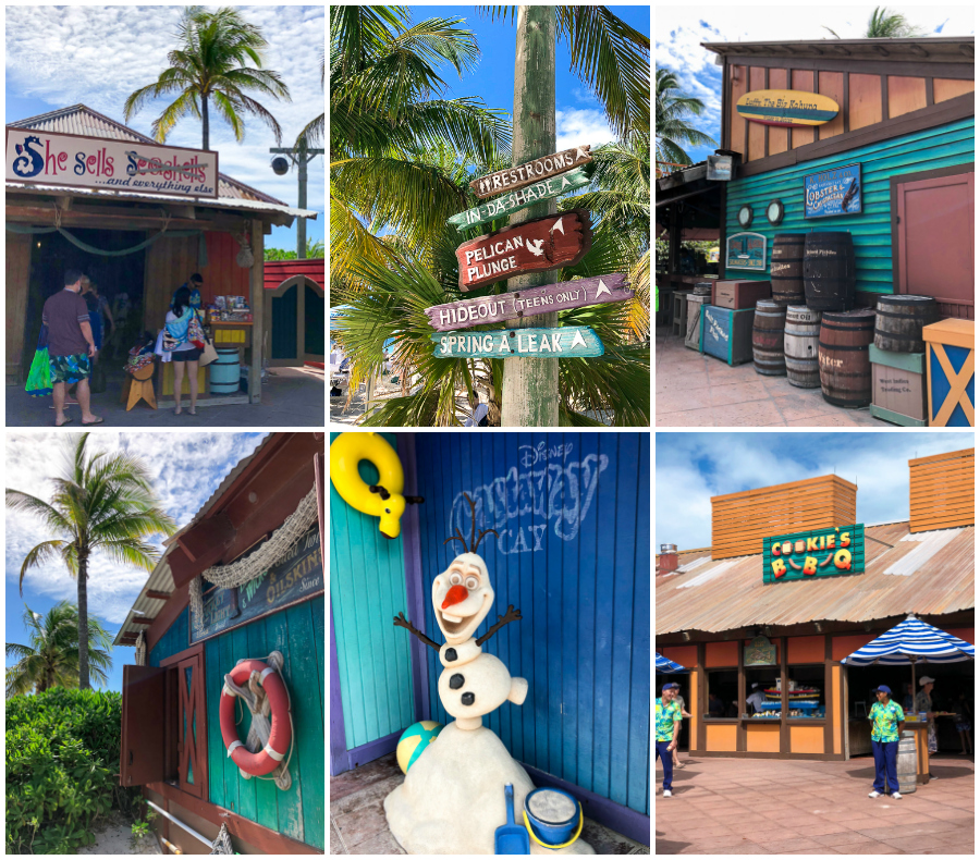 Castaway Cay Shops and Restaurants