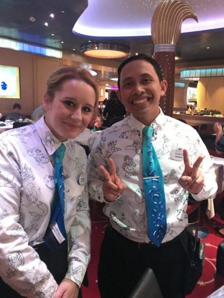 Fiona and Surya Servers on the Disney Dream
