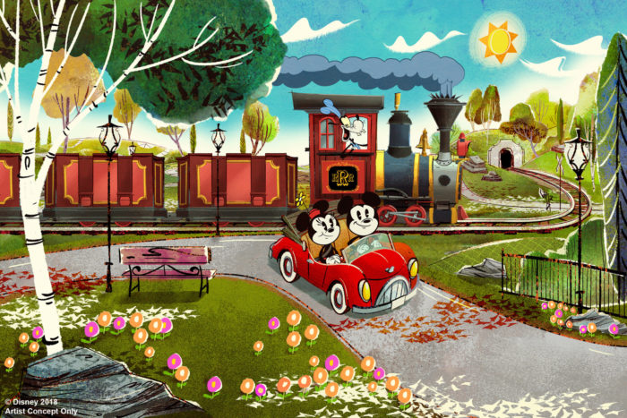 Micky and Minnie Runaway railway ride in Hollywood Studies