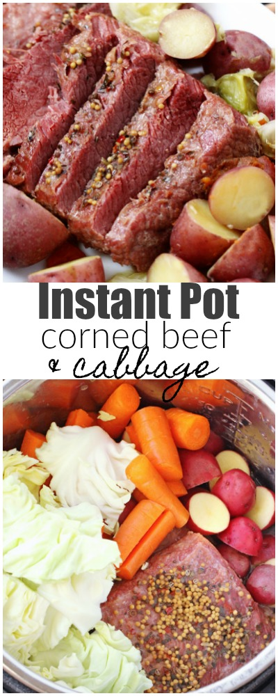Instant Pot Corned Beef and Cabbage is a hearty, comfort meal that can be enjoyed any time of year. Not just on St.Patrick's Day! #cornedbeef #instantpot #stpatricksday