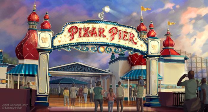 Pixar Pier in California Adventure