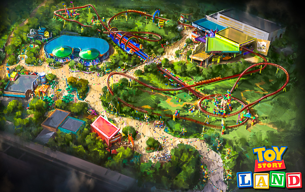 Toy Story Land Drawing Overhead View