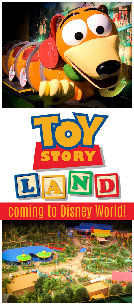 Toy Story Land is coming to Walt Disney World!  We will all be invited into Andy's backyard to go on new adventures with the Toy Story characters we know and love. #toystoryland #toystory