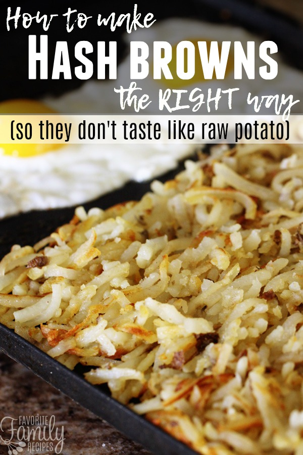 Looking for a hash browns recipe that doesn't taste like raw potato? Look no further. These hash browns are crispy on the outside yet perfectly cooked on the inside.  #hashbrowns #hashbrown #breakfast #potatoes #breakfastfood #breakfastpotatoes #easyhashbrowns #homemadehashbrowns #hashbrownsfromscratch