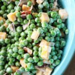 Creamy Green Pea Salad with Bacon