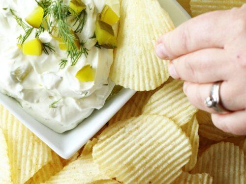 Easy creamy pickle dip