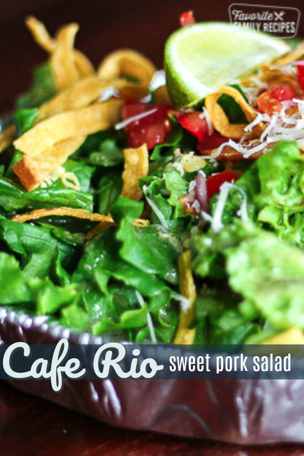 If you love the Cafe Rio Sweet Pork Salad, this is the place for The Complete Cafe Rio Sweet Pork Salad Recipe. See our easy recipes for each ingredient! #caferio #sweetpork #salad #guacamole #caferiosweetporksalad #caferiosalad #pork #shreddedpork  #saladrecipe #recipe #copycat #copycatrecipe