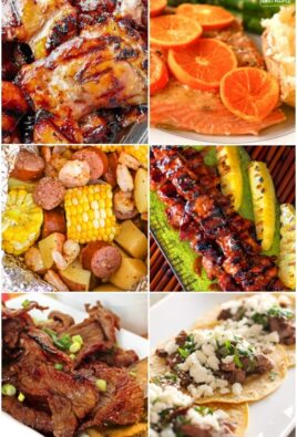Collage of grill recipes