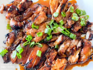 grilled chicken teriyaki, sliced