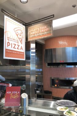 Design your own pizza at the Albertsons Food Court
