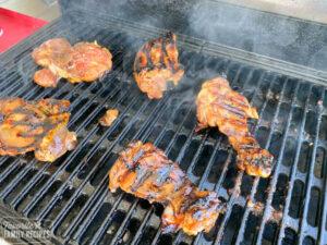 teriyaki chicken on a grill