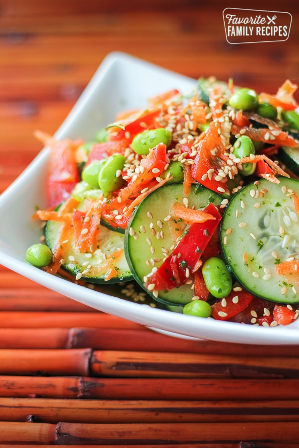 Asian Cucumber Salad By Favorite Family Recipes