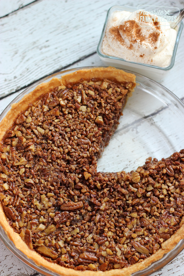 Brown Butter Pecan Pie with a side of Whipped Topping