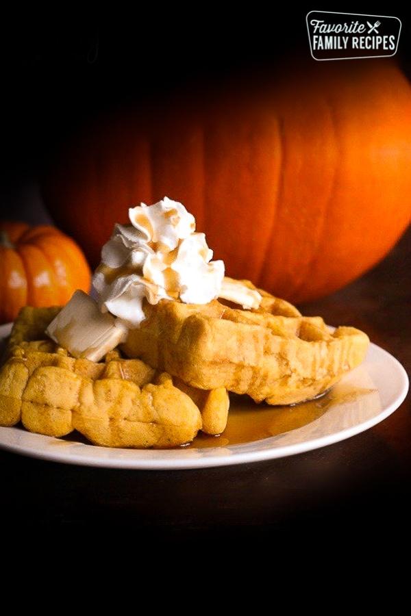 Easy Pumpkin Waffles | Favorite Family