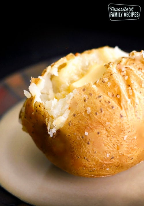 How To Bake The Perfect Baked Potato Favorite Family Recipes