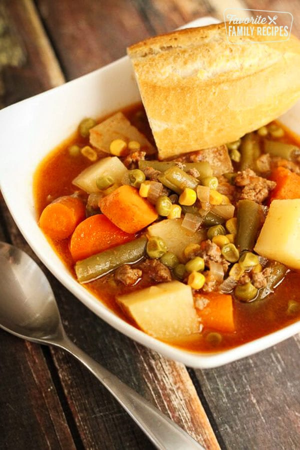 Crock Pot Vegetable Beef Soup Favorite Family Recipes
