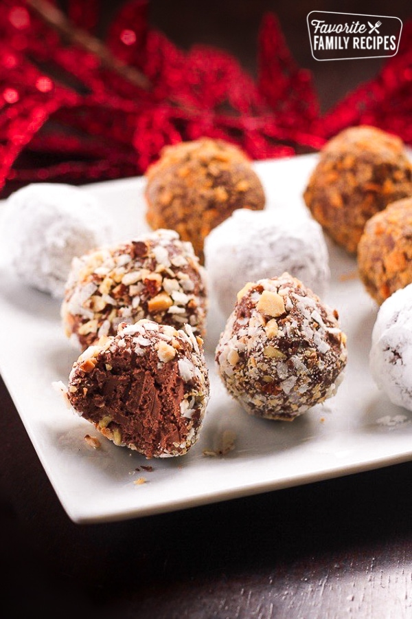 Easy Chocolate Truffle Balls